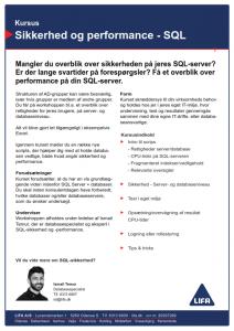 SQL kursusbeskrivelse