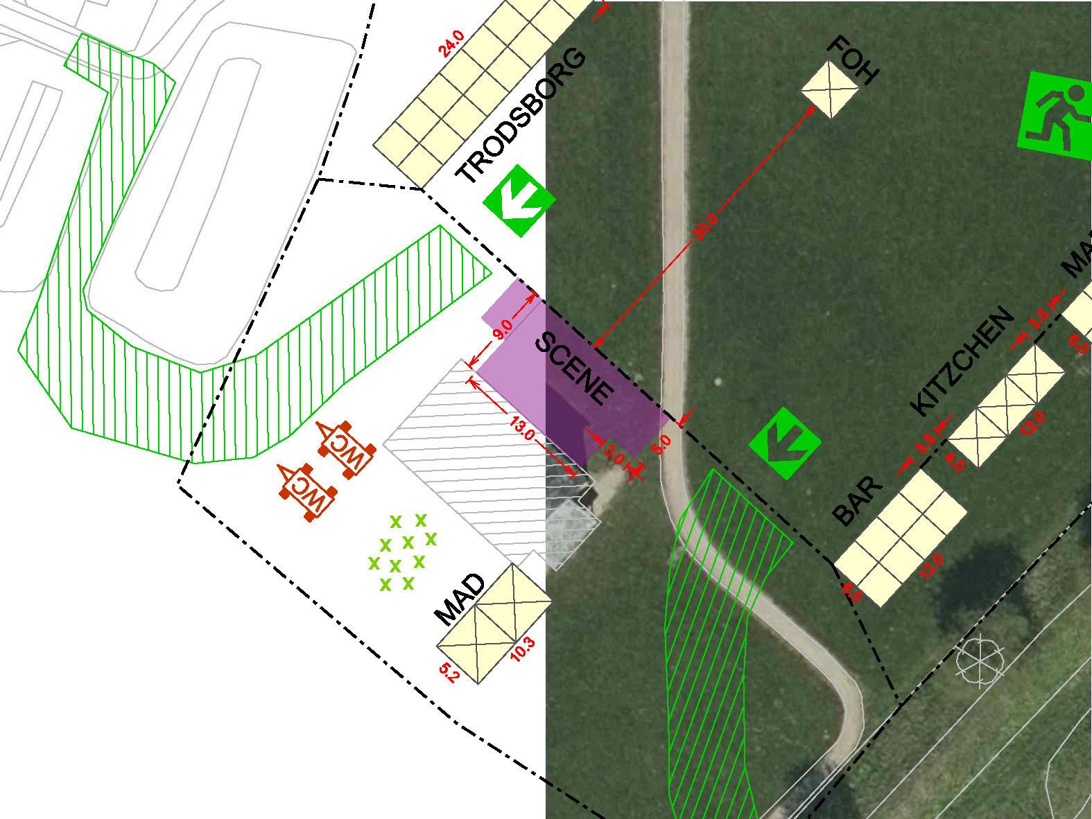 Pladstegning og eventplan